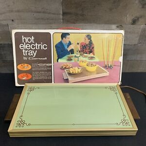 Cornwall 1976 Electric Hot Tray Warming Plate USA 1418 vintage NOS Avocado