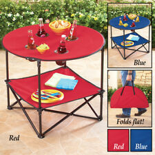Waterproof Fold-able Outdoor Porch Patio Beach Picnic Accent Table