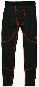 SPYDER PRO WEB BASE LAYER PANT  BLACK/RED STYLE # SPM702   RET.$78    Size XL