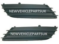 Vauxhall Astra H 2004-2007 Front Bumper Fog Grille No Hole Pair Left & Right New
