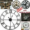 40/60CM Roman Numeral Large Giant Wall Clock Round Open Face Home Outdoor Garden