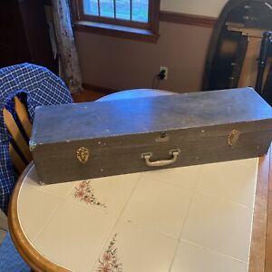 "Vintage Swift Telescope Wood Dovetailed Case 35"" Long."