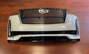 2021 CADILLAC ESCALADE FRONT BUMPER ASSEMBLY With Sensors Camera & Lights White