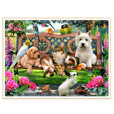 3D Animal Paradise DIY Pictures Embroidery Arts Crafts Diamond Painting Welcome