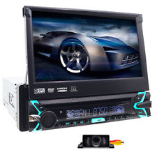 "Autoradio HD 7"" 1Din Car DVD Stereo Monitor GPS Navigation Bluetooth+Free Camera"