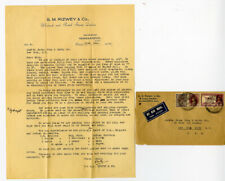 India 1937 Airmail cover Stamp Dealer Corner Card with Letter VF
