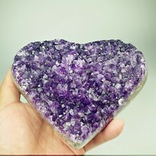 929g AMAZING AMETHYST GEODE HEART WITH GEMMY CRYSTALS FROM URUGUAY A1821