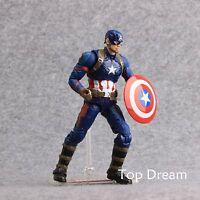 "The Avengers Super Hero Civil War Captain America 3 Action Figure 7"" Toy Doll"
