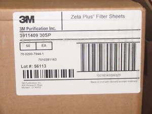 "50 3M Zeta Plus SP Series Media Disc 3911409 30SP 19.4"" 1 Hole Filter Sheets NEW"