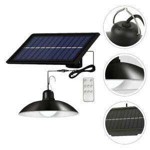 Lampada sospensione LED energia pannello solare da esterno bianco