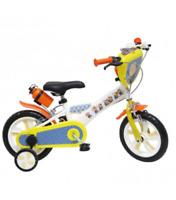 """Bicicletta Bici Per Bambino 12"""" Con Rotelle Minions 3-6 Anni"""