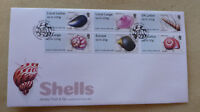 2017 JERSEY SHELLS POST n GO SET OF 6 STAMPS FDC FIRST DAY COVER