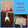 Make Your Own Forky Toy Story 4- Birthday Favor, Class Treat, Craft