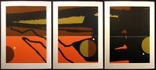 """Matthew Ruddy """"Distance"""" Original Paper Collage Triptych (3pc) abstract 1982 OBO"""