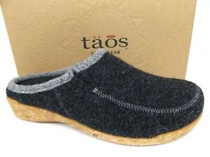 Taos Wool do Women's Charcoal Wool Clog Slippers, SZ 39 US 8-8.5 M, NEW,  17718