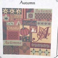 """European Cross Stitch Collection Chart """"Autumn"""" 2005 Pumpkin Pattern"""