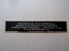 Michael Campbell Nameplate For A 2005 Us Open Golf Flag Or Club Case 1.5X8