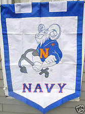 NAVAL ACADEMY FLAG EMBROIDERED HOUSE FLAG, SUPERSIZE