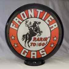 FRONTIER GASOLINE GAS PUMP GLOBE SIGN