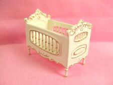 Hansson Miniature 1:24 - Baby Crib - White w/ gold