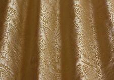 "Gold Taffeta Dupioni Paisley Jacquard 100% Silk Fabric 54"" Wide By Yard (JD-376)"