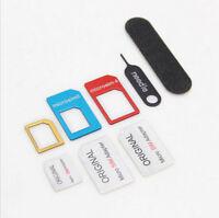 Nano SIM Card 5 IN 1 to Micro Standard Adaptor Adapter Converter Set for Phone