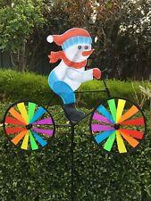 Christmas Garden Windmill Decoration-snowman/santa on Bike Snowman