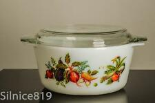 Pyrex JAJ England TUSCANY GARDEN Covered Casserole Dish & Glass Lid