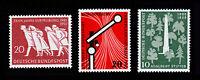 GERMANY DEUTSCHE BUNDESPOST SCOTT #733-735 MNH-OG 1955