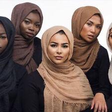 Ladies Premium Viscose Maxi Crinkle Cloud Hijab Scarf Shawl Soft Islam Muslim HX