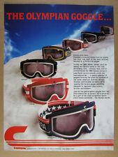 a360ddc039b 1980 Carrera Ski Goggles Olympic Games Special Edition vintage print Ad