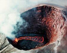 New 8x10 Photo: Puu Oo, Volcanic Cone of Kilauea Volcano in the Hawaiian Islands