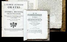1735 Altmann Oratio de ANTIQUA Helvetia graecissante