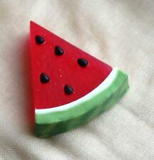 Handmade Soap SLICE of WATERMELON ,Luxury, Novelty, Perfect Gift ,with Argan oil