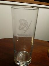 """Hobgoblin Etched Logo 7.25"""" Tall Beer Glass"""