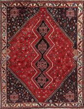 Vintage Geometric Animals Tribal Abadeh Shiiraz Oriental Area Rug 7x10