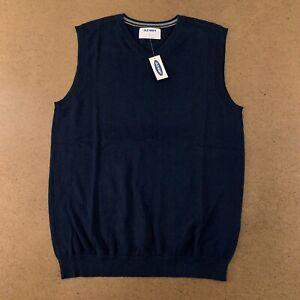 Old Navy Boys Size XL Ink Blue Uniform V-Neck Sweater Vest NWT