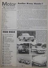 Motor magazine 25/8/1973 featuring Ford Escort RS200, MGB test, Lister-Jaguar
