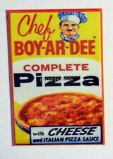"""Vintage CHEF BOY-AR-DEE PIZZA MIX  2"""" x 3"""" Fridge MAGNET Art BOYARDEE"""
