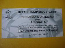2002/03 Ticket  Dortmund - Arsenal London Eintrittskarte Sammler EC