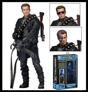 Terminator 2 Judgment Day T-800 PVC Action Figure Arnold Statue Display NECA Toy