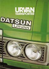 DATSUN URVAN Transporter Prospekt 1981 +++++++++++++++++++++++++++++++++++++++++
