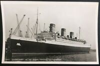 Cunard RMS Queen Mary At The Ocean Terminal Southampton Docks Postcard