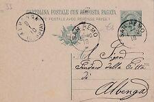CARTOLINA POSTALE 5 CENT. 1918 DA SAN REMO PER IL SINDACO DI ALBENGA  C3-55