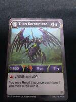 1 x Bakugan Battle Planet Hyper Fangzor Evo Card ENG 250 RA BB  New