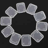 HN- CO_ KQ_ 10Pcs SD SDHC Memory Card Transparent Storage Box Protective Case Ho