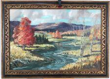 Barrett 1950's Canadian Vintage Oil/Canvas St.Donat Quebec Laurentians Landscape