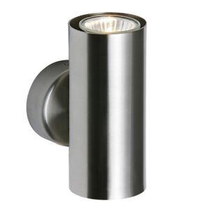 SAXBY ODI Indoor 2X50W UP & DOWN GU10 Wall Light Hallway Satin Nickel OD51004