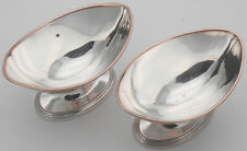 PAIR OLD SHEFFIELD PLATE BOAT SHAPED OPEN SALTS - GEORGIAN - SILVER PLATED