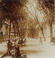 IndoChine Saigon Rue Lagrandière Vietnam Photo Stereo Vintage Plaque de verre